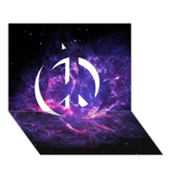 Pia17563 Peace Sign 3d Greeting Card (7x5)