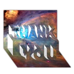 Orion Nebula Thank You 3d Greeting Card (7x5)