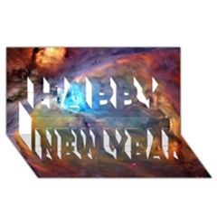 Orion Nebula Happy New Year 3d Greeting Card (8x4)