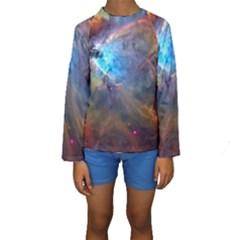 ORION NEBULA Kid s Long Sleeve Swimwear