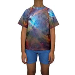 Orion Nebula Kid s Short Sleeve Swimwear