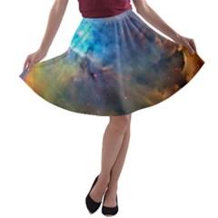 Orion Nebula A Line Skater Skirt
