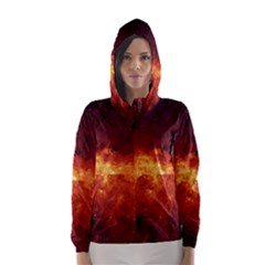 Milky Way Clouds Hooded Wind Breaker (women)