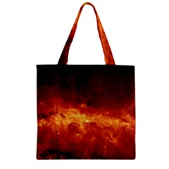 Milky Way Clouds Zipper Grocery Tote Bags