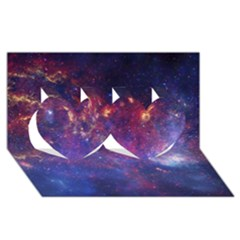 MILKY WAY CENTER Twin Hearts 3D Greeting Card (8x4)