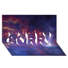 MILKY WAY CENTER SORRY 3D Greeting Card (8x4)