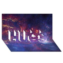 Milky Way Center Hugs 3d Greeting Card (8x4)