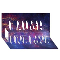 MILKY WAY CENTER Laugh Live Love 3D Greeting Card (8x4)