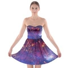 Milky Way Center Strapless Bra Top Dress