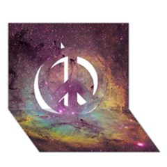 IC 1396 Peace Sign 3D Greeting Card (7x5)