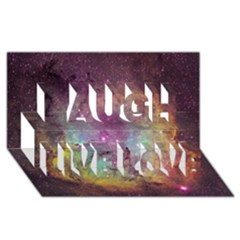 Ic 1396 Laugh Live Love 3d Greeting Card (8x4)
