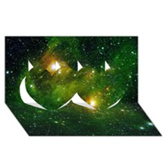 Hydrocarbons In Space Twin Hearts 3d Greeting Card (8x4)