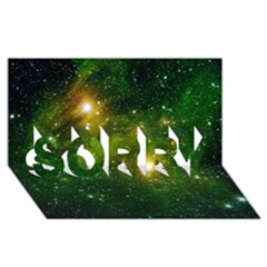 Hydrocarbons In Space Sorry 3d Greeting Card (8x4)