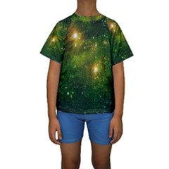 HYDROCARBONS IN SPACE Kid s Short Sleeve Swimwear