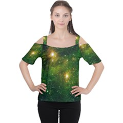 HYDROCARBONS IN SPACE Women s Cutout Shoulder Tee