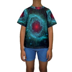 HELIX NEBULA Kid s Short Sleeve Swimwear
