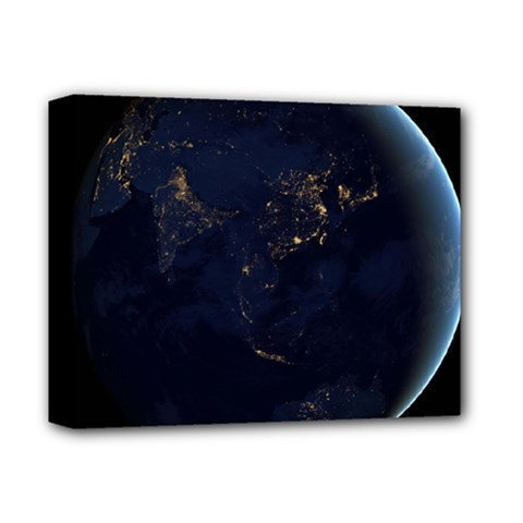 GLOBAL NIGHT Deluxe Canvas 14  x 11