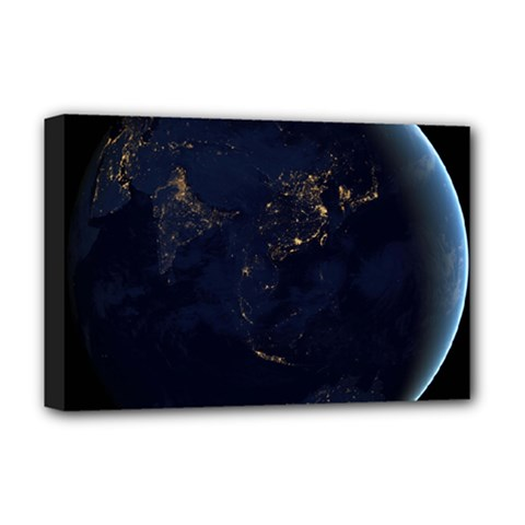 GLOBAL NIGHT Deluxe Canvas 18  x 12