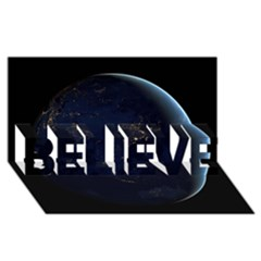 Global Night Believe 3d Greeting Card (8x4)