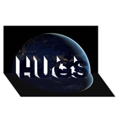 GLOBAL NIGHT HUGS 3D Greeting Card (8x4)