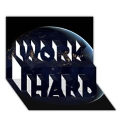 Global Night Work Hard 3d Greeting Card (7x5)