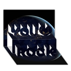 GLOBAL NIGHT You Rock 3D Greeting Card (7x5)