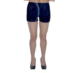 GLOBAL NIGHT Skinny Shorts