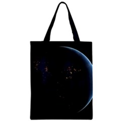 Global Night Zipper Classic Tote Bags