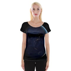 GLOBAL NIGHT Women s Cap Sleeve Top