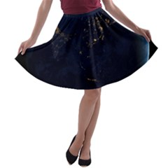 Global Night A Line Skater Skirt