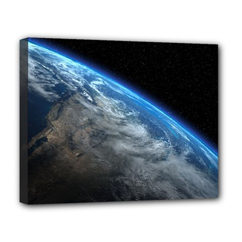 EARTH ORBIT Deluxe Canvas 20  x 16