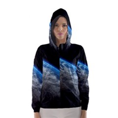 EARTH ORBIT Hooded Wind Breaker (Women)