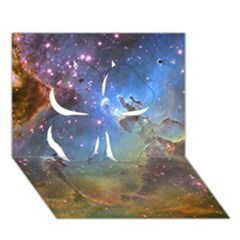 EAGLE NEBULA Clover 3D Greeting Card (7x5)