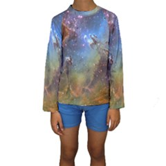 EAGLE NEBULA Kid s Long Sleeve Swimwear