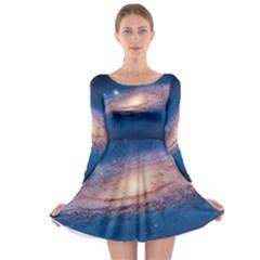 ANDROMEDA Long Sleeve Skater Dress