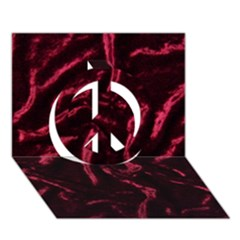 Luxury Claret Design Peace Sign 3D Greeting Card (7x5)