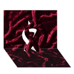 Luxury Claret Design Ribbon 3d Greeting Card (7x5)