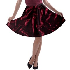 Luxury Claret Design A Line Skater Skirt