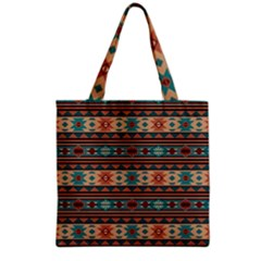Southwest Design Turquoise and Terracotta Grocery Tote Bags