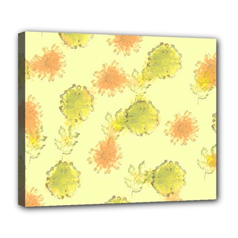 Shabby Floral 1 Deluxe Canvas 24  x 20