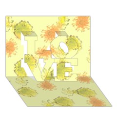 Shabby Floral 1 LOVE 3D Greeting Card (7x5)