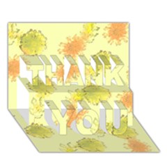 Shabby Floral 1 THANK YOU 3D Greeting Card (7x5)