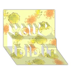 Shabby Floral 1 You Did It 3D Greeting Card (7x5)