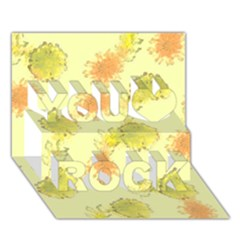 Shabby Floral 1 You Rock 3d Greeting Card (7x5)