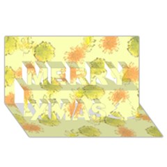 Shabby Floral 1 Merry Xmas 3D Greeting Card (8x4)