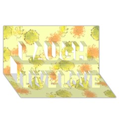 Shabby Floral 1 Laugh Live Love 3D Greeting Card (8x4)