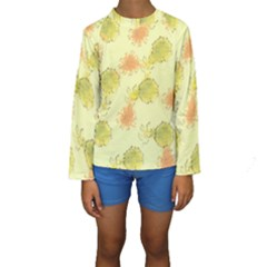 Shabby Floral 1 Kid s Long Sleeve Swimwear