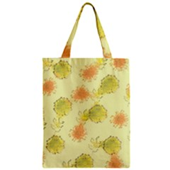 Shabby Floral 1 Zipper Classic Tote Bags