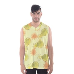 Shabby Floral 1 Men s Basketball Tank Top