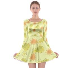 Shabby Floral 1 Long Sleeve Skater Dress